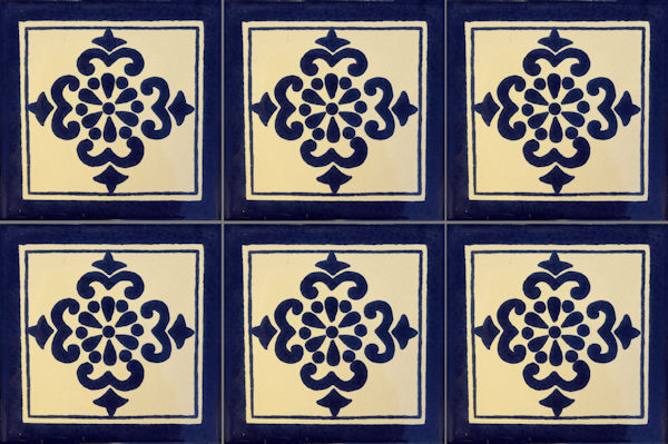 Anita Talavera Mexican Tile Close-Up