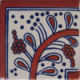 Terracota Bower Corner Talavera Mexican Tile