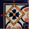 Corner Diamond Talavera Mexican Tile