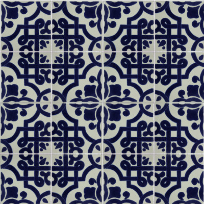 Palermo Talavera Mexican Tile Close-Up