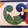 Right Green Greca Talavera Mexican Tile
