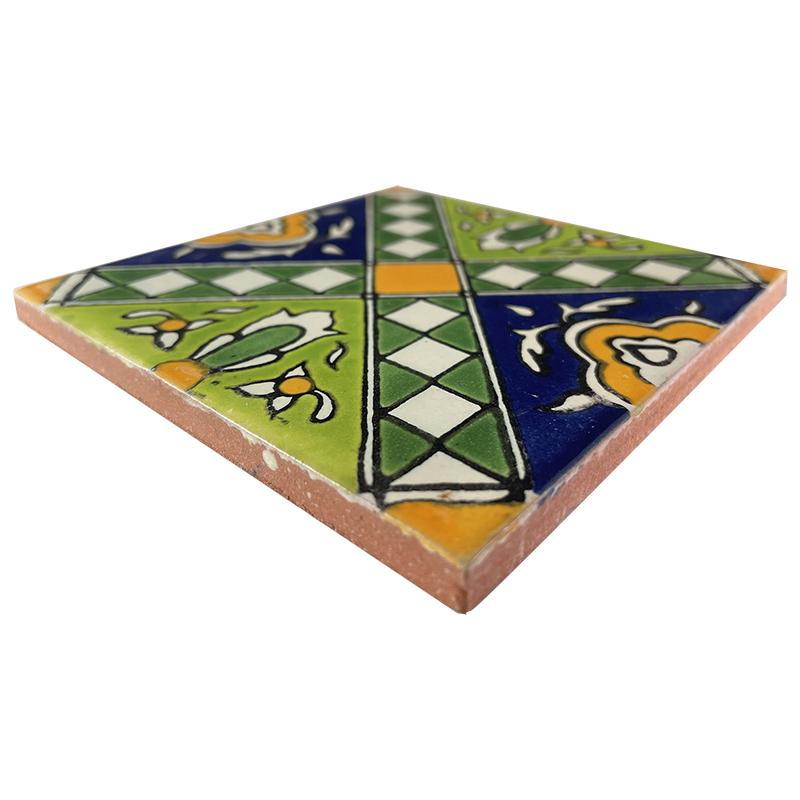 Mexican Kitchen Tiles on Green Zamora Talavera Mexican Tile   211315 370