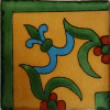 Yellow Liz Flower Corner Talavera Mexican Tile