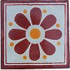 Brown Daisy Talavera Mexican Tile