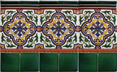 Alhambra HV3 Talavera Tile Close-Up