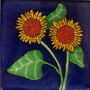 Double Sunflower Talavera Mexican Tile