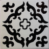 Black Barroco Mexican Tile