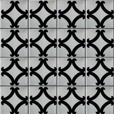 Black Diamond Talavera Mexican Tile Close Up