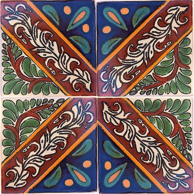 Morelia Talavera Mexican Tile Close-Up