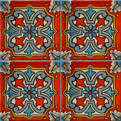 Red picota talavera mexican tile Cheap mexican tile