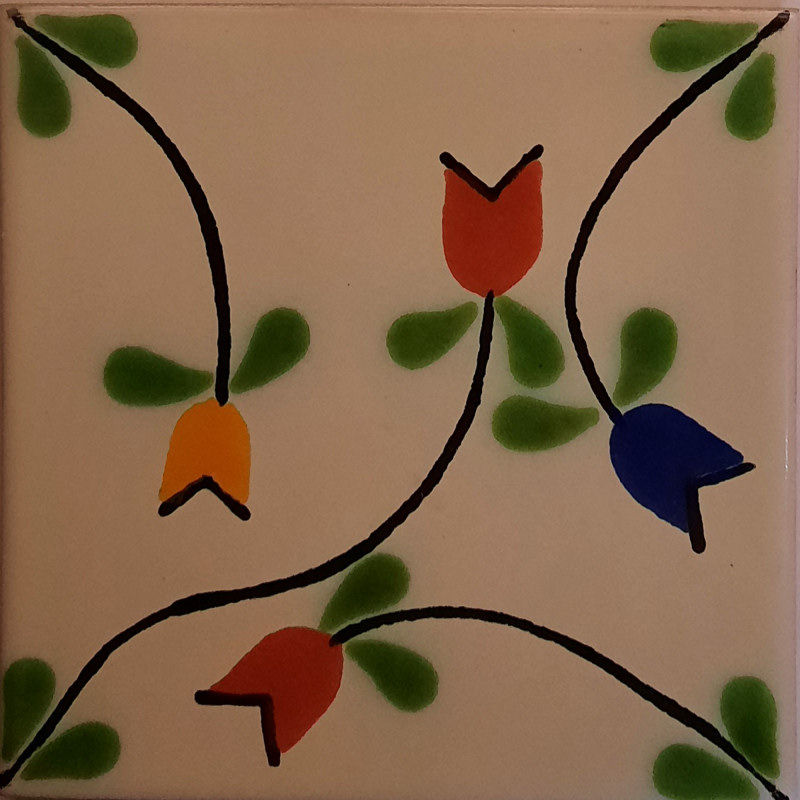 Tulips Bower Talavera Mexican Tile