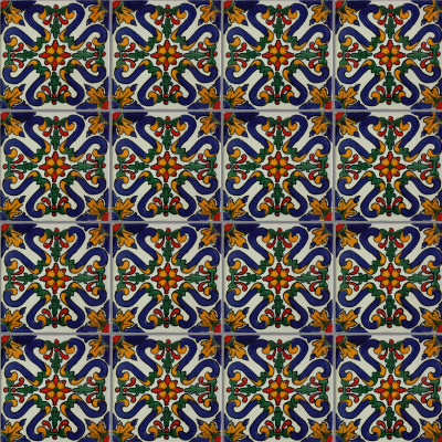 Atessa Talavera Mexican Tile Close-Up