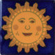 Sun Face Talavera Mexican Tile