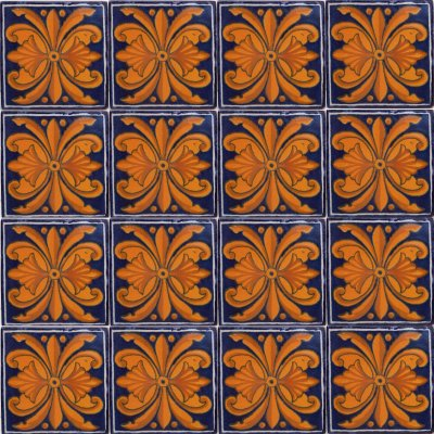 Monarca Talavera Mexican Tile Close-Up
