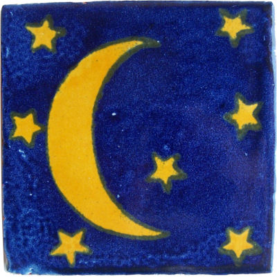 Yellow Moon Talavera Mexican Tile