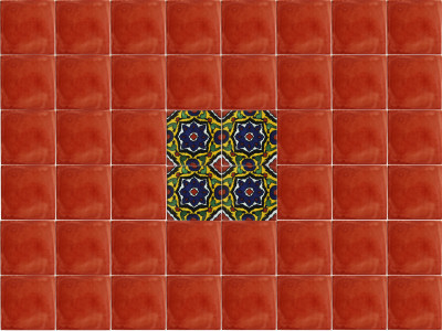 Cuneo Talavera Mexican Tile Close-Up