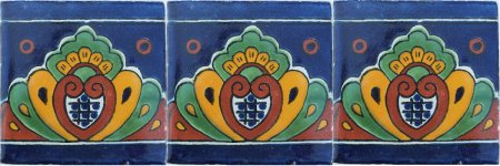 Royal Crown Talavera Mexican Tile Close-Up