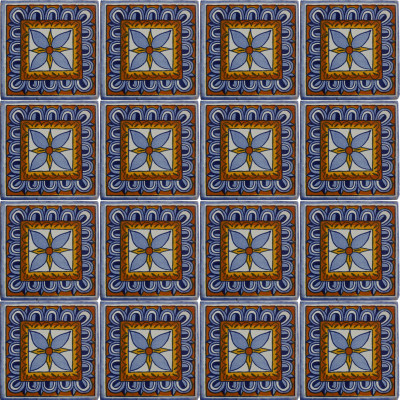 Orizaba Talavera Mexican Tile Close-Up