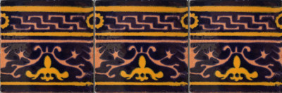 Soria Talavera Mexican Tile Close-Up