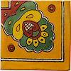 Orange Royal Crown Talavera Mexican Corner Tile