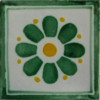 Green Daisy Talavera Mexican Tile