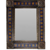Medium Brown Orizaba Tile Talavera Tin Mirror