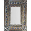 Post Small Silver Guadalajara Tile Mexican Mirror