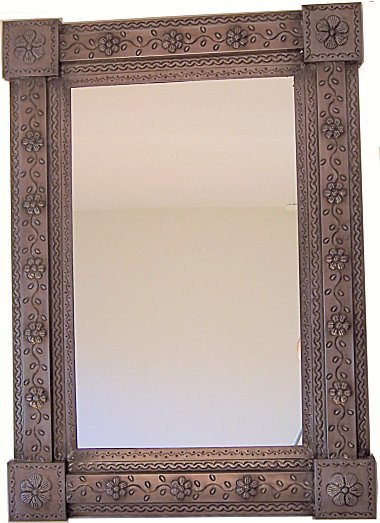 Brown Bower Talavera Tin Mirror
