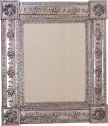 Silver Bower Tin Mirror