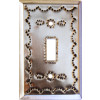 Single Silver Tin Switchplate
