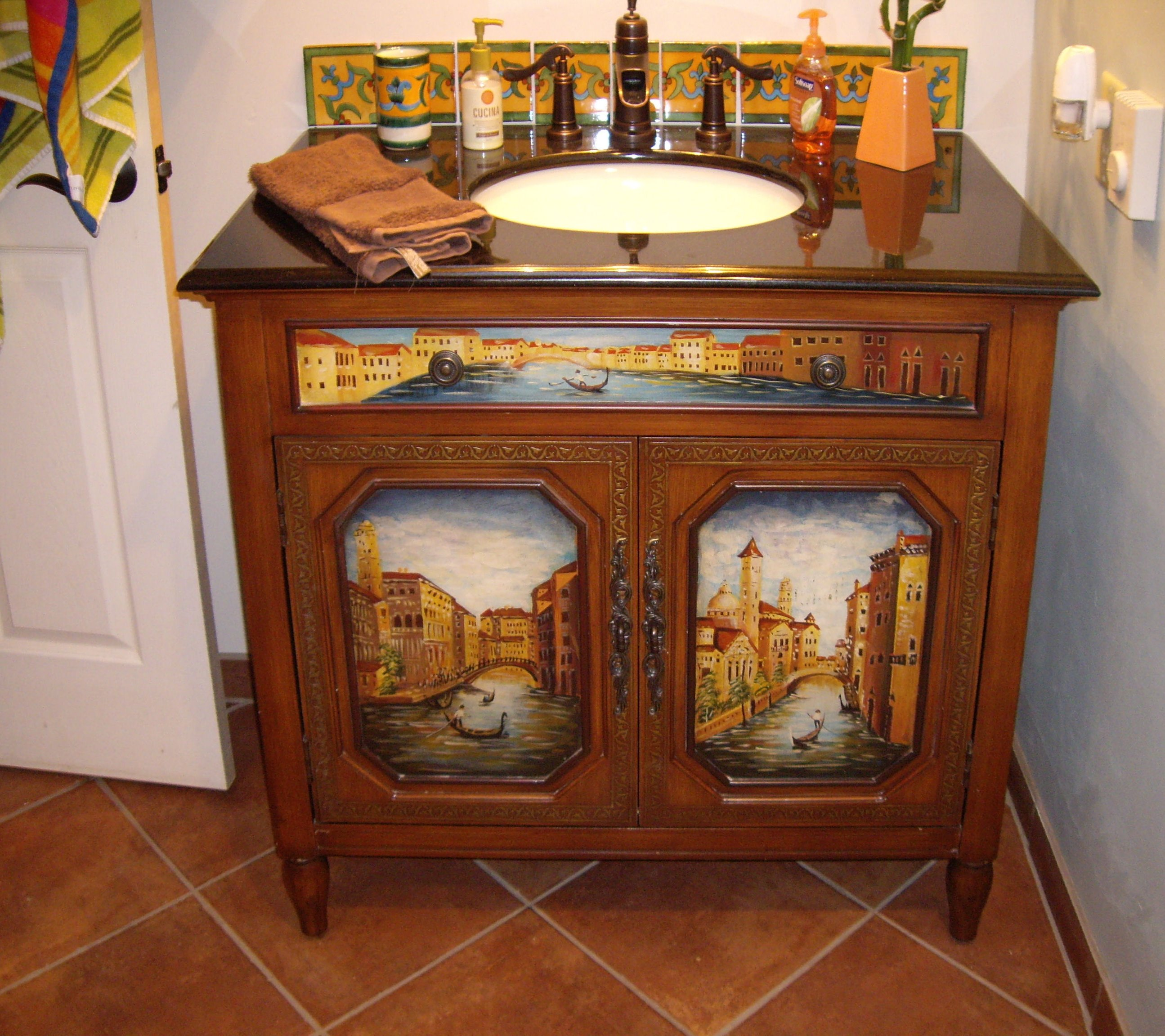 Liz Talavera Tile In A Vanity Backsplash Mexican Home Decor Projects Gallery