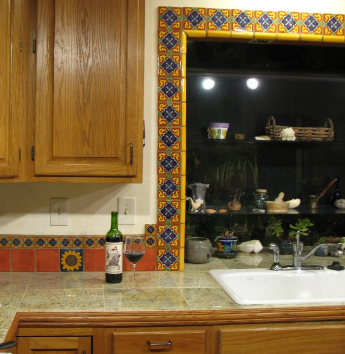 Mexican Tile Around The Window Home Decor Gallery Mission Accesories Copper Sinks Mirrors Tables And More