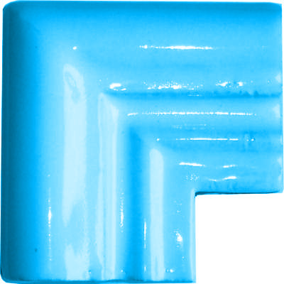 Aqua Chair Rail Corner Molding