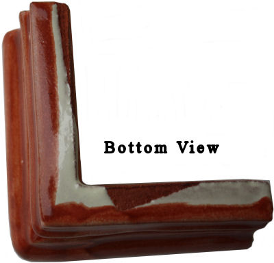 Terracotta Chair Rail Corner Molding Details
