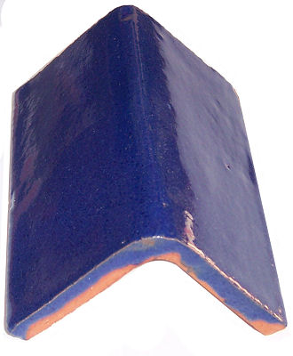 Cobalt Blue Talavera Clay V-Cap Close-Up