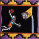 Basketball Player. Day-Of-The-Dead Clay Tile