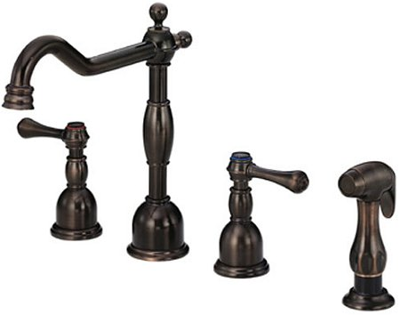 Widespread Oil Rubbed Bronze Two Handle Kitchen Sink Faucet