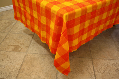 Rectangular Mexican Tablecloth 6 Napkins Close-Up