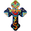 Rainbow Large Talavera Mexican Cross