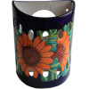 Sunflower Talavera Ceramic Sconce