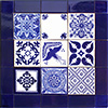 Andalucia Mexican Tile Set Backsplash Mural