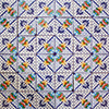 Blue Mesh Mexican Tile Set Backsplash Mural