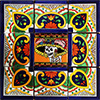 Pola Mexican Tile Set Backsplash Mural
