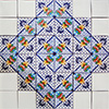 Carmona Mexican Tile Set Backsplash Mural