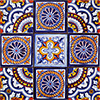Lozoya Mexican Tile Set Backsplash Mural