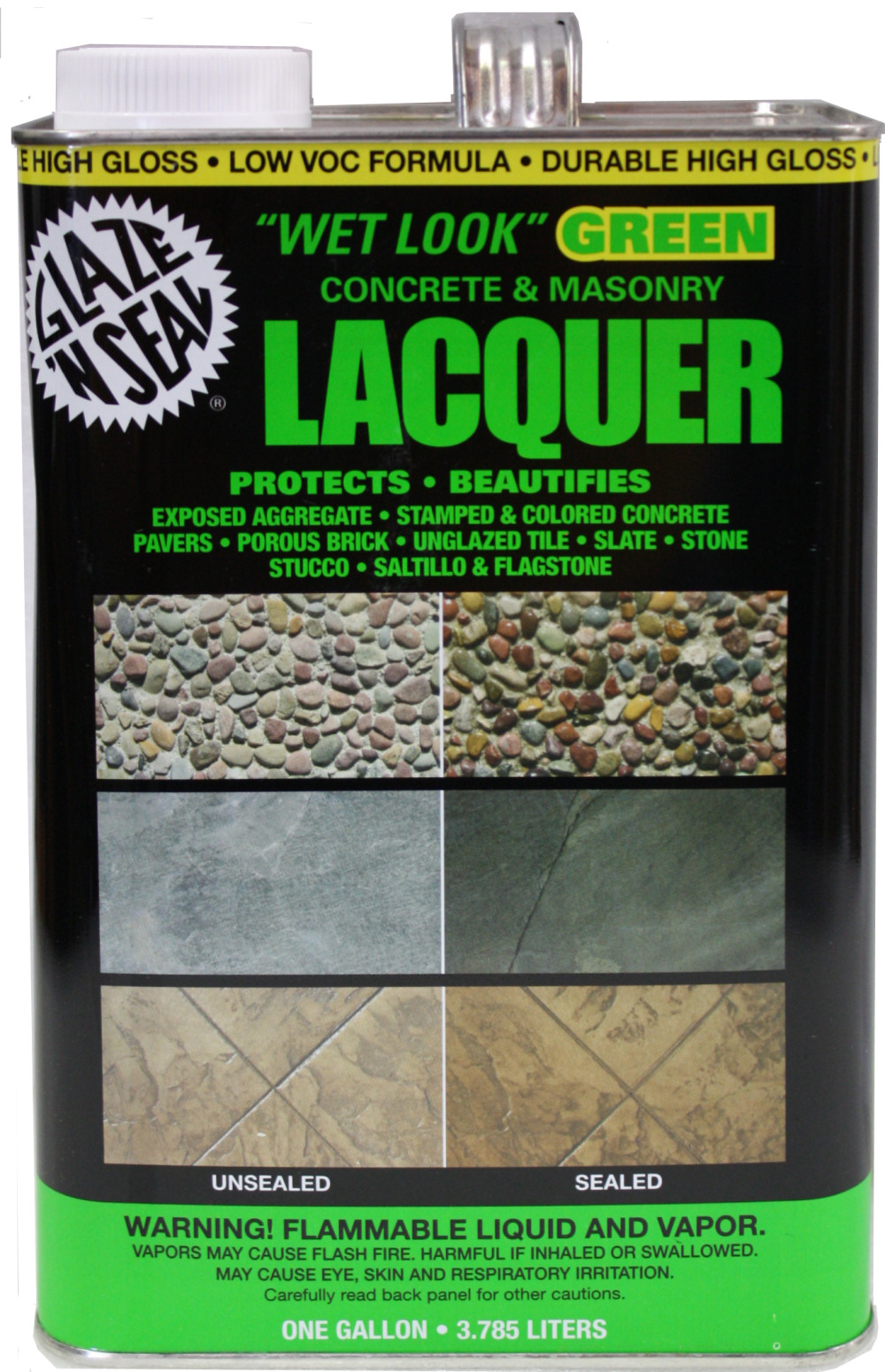 Saltillo Mexican Floor Tile Sealer. Glaze N Seal Wet Look Green Lacquer Gal