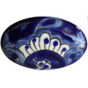 Oval Blue Talavera Ceramic Drawer Knob
