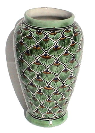 Peacock Mermaid Talavera Flower Vase