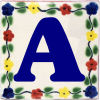 Bouquet Talavera Clay House Letter A