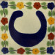 Bouquet Talavera Clay House Letter C
